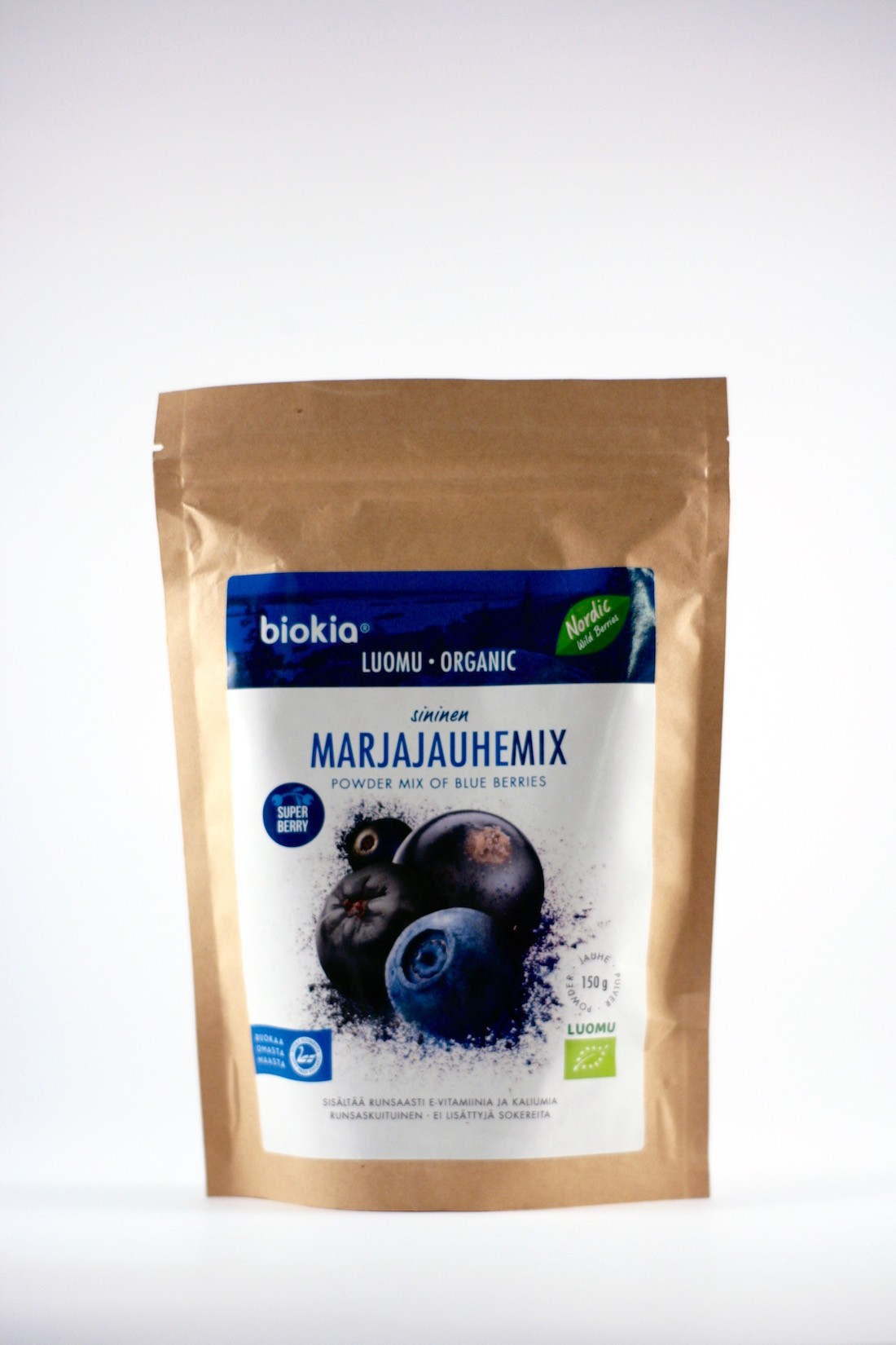 Wilde bosbessenpoeder blauw organic 150gr. Biokia