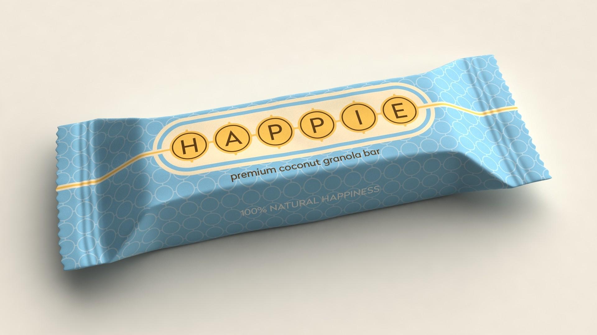 HAPPIE coconut granola bar ds. 12 st. van 50gr.