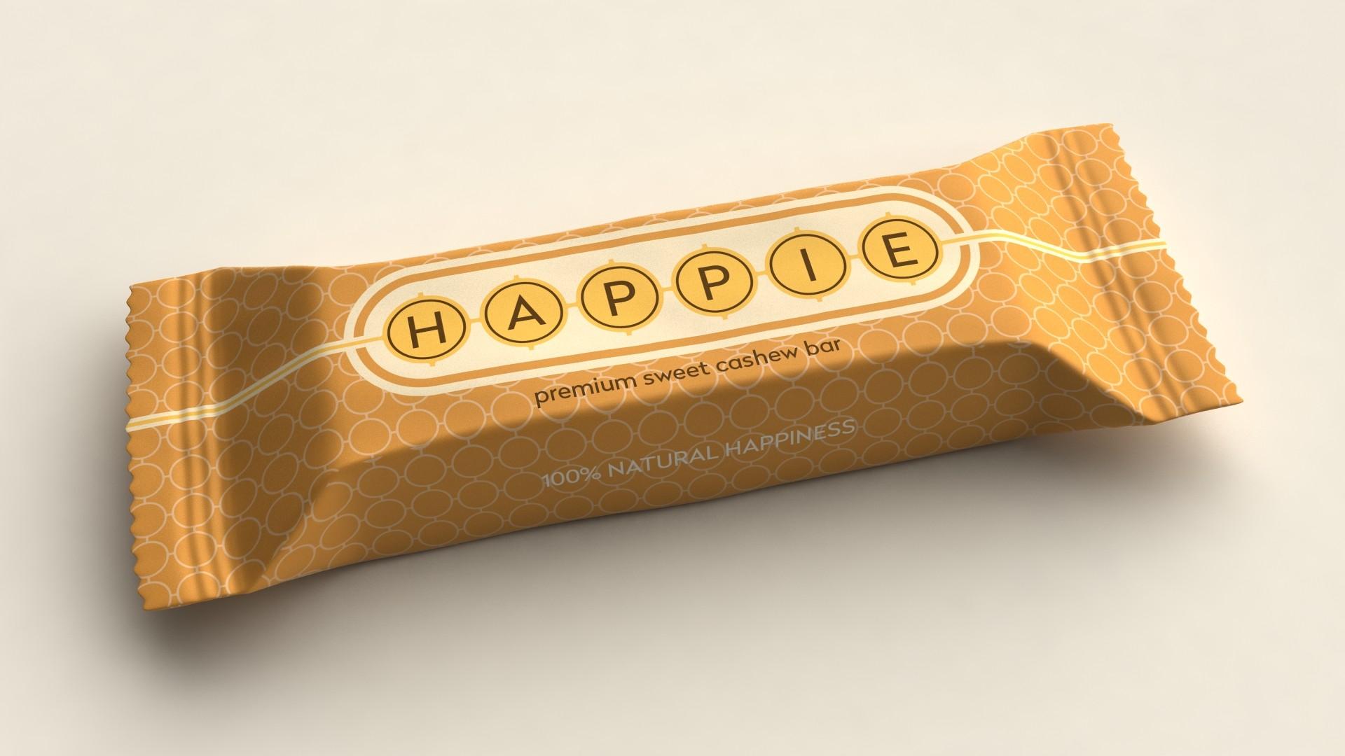 HAPPIE Sweet cashew Bar ds. 12 stuks van 50 gram