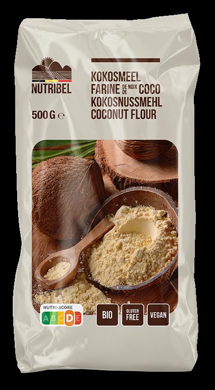 Kokosmeel glutenvrij BIO 500gr. Nutribel