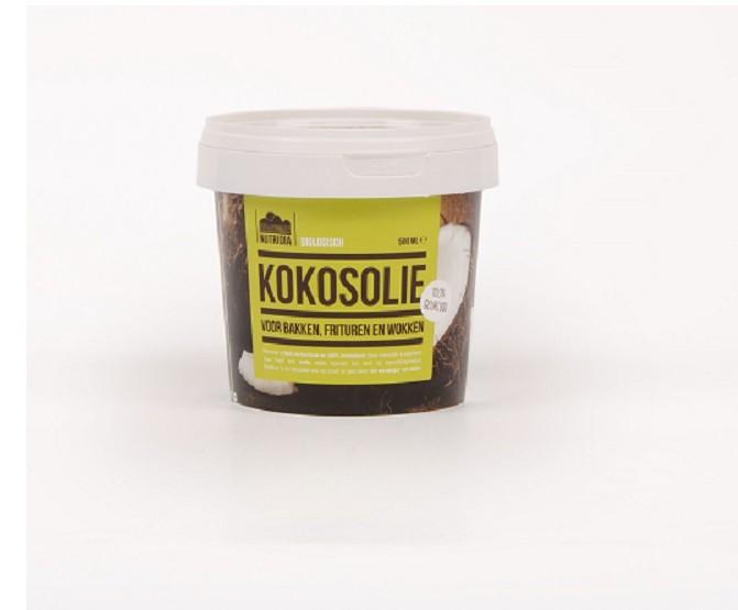 Kokosolie geurloos BIO 500ml. Nutridia