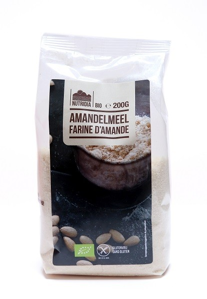 Amandelmeel glutenvrij BIO 200gr. Nutridia