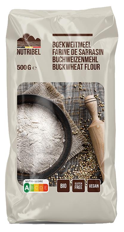 Boekweitmeel glutenvrij BIO 500gr. Nutribel online kopen bij Natuurgroothandel