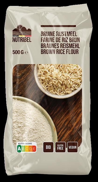 Rijstmeel bruin glutenvrij BIO 500gr. Nutribel