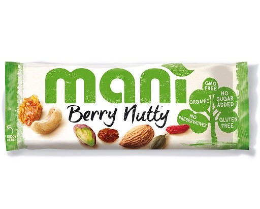 Noten/vruchtenmix BIO 45gr. Berry Nutty Mani