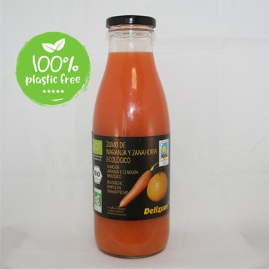 Wortel sinaasappelsap BIO 750ml. Delizum