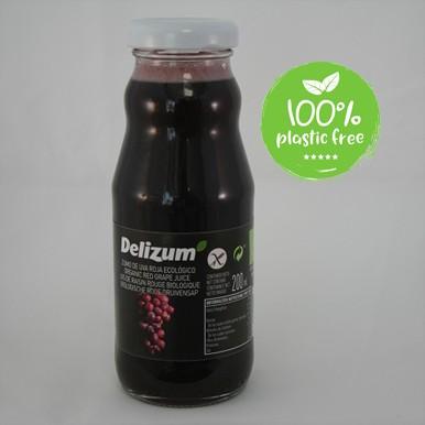 Druivensap rood BIO 200ml. Delizum