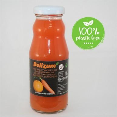 Wortel sinaasappelsap BIO 200ml. Delizum 12stuks