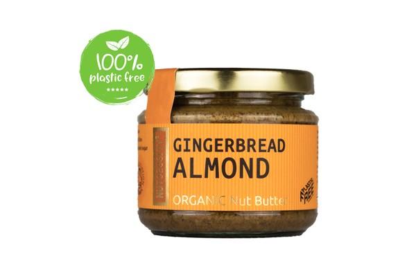 Notenboter Organic gemberbrood en amndelen pot 180gr. Nutcessity
