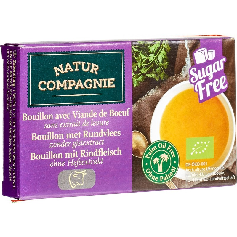 Runderbouillonblokjes gist/suikervrij 80 gr. Natur Compagnie