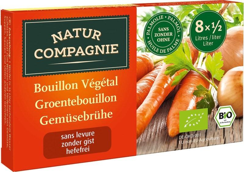 Groentebouillonblokjes gistvrij 80gr. Natur Compagnie