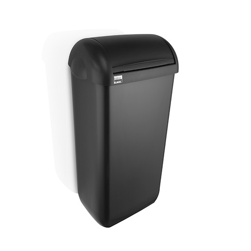 Satino Black dameshygienebox 23 liter - kunststof zwart