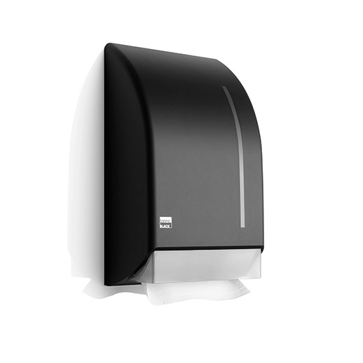 Satino Black handdoekdispenser - kunststof matzwart