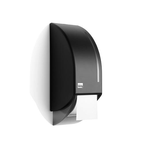 Satino Black systeemroldispenser - voor 2 systeemrollen - kunststof matzwart