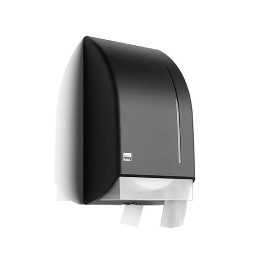 Satino Black jumbo toiletroldispenser - kunststof matzwart