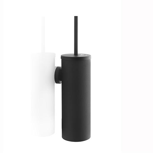 Satino Black toiletborstel garnituur - metaal zwart