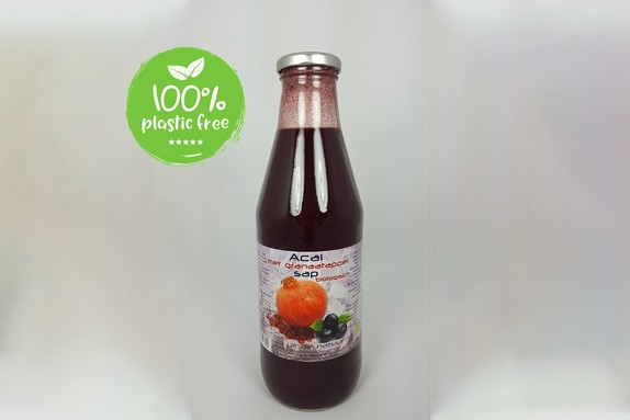 Granaatappel-acaisap BIO 750ml. Dutch Cranberry