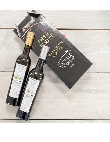 Castillo de Canena Family Reserve olijfolie geschenkpakket 2 flessen