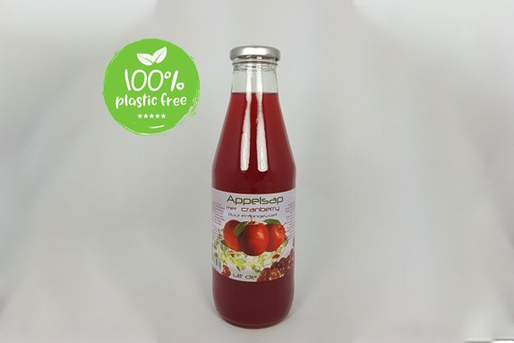 Appelsap & cranberry 750ml. Dutch Cranberry