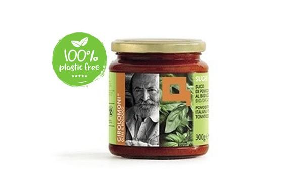 Tomaten/basilicumsaus BIO 300gr. Girolomoni