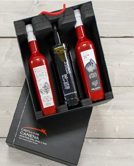 Castillo de Canena olijfolie geschenkpakket CAJA NEGRA Eerste oogst + Early Royal
