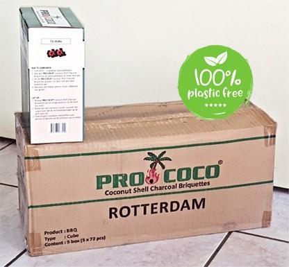 Kokosbriketten Masterbox 10kg.(5 ds. maal 2 kg.) Pro Coco