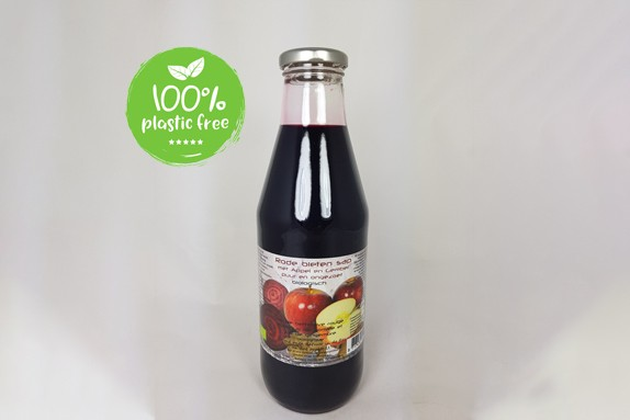 Rode bietensap met appel en gember BIO 750ml. Dutch Cranberry