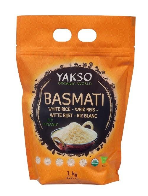 Yakso Basmati rijst wit BIO Organic 1kg