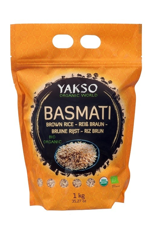 Yakso Basmati rijst bruin BIO Organic 1kg