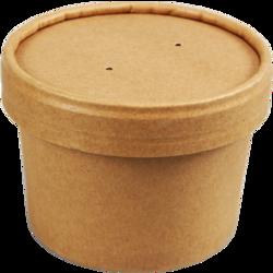Soepbeker 8oz (250ml.) met deksel krimp 25st. Biodore