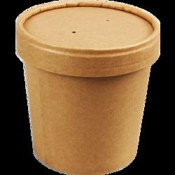 Soepbeker 12oz (350ml.) met deksel krimp 25st. Biodore