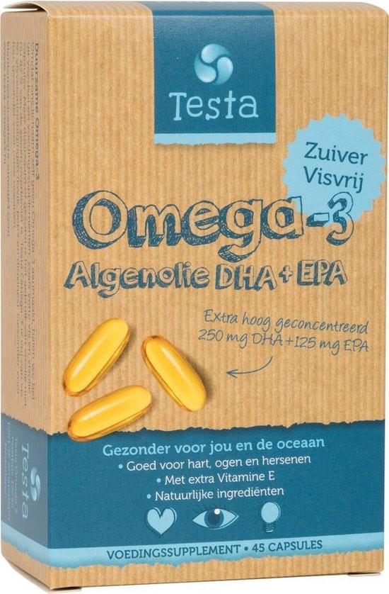Testa Omega-3 Algeolie DHA & EPA (45 capsules)