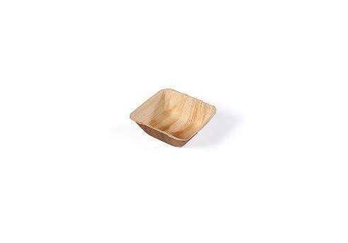Bakje vierkant palmblad 140x140xh50 mm 50cl 20st. Sier