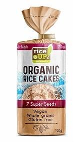 Rijstcracker volkoren 7 super zaden Organic 120gr. Rice UP