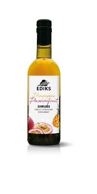 Ediks Shrubs azijnsiroop passiefruit ananas BIO 375 ml
