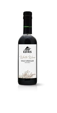 Edik Mild Vinegar White Wine/ Edik witte wijnazijn BIO 375ml. Ediks