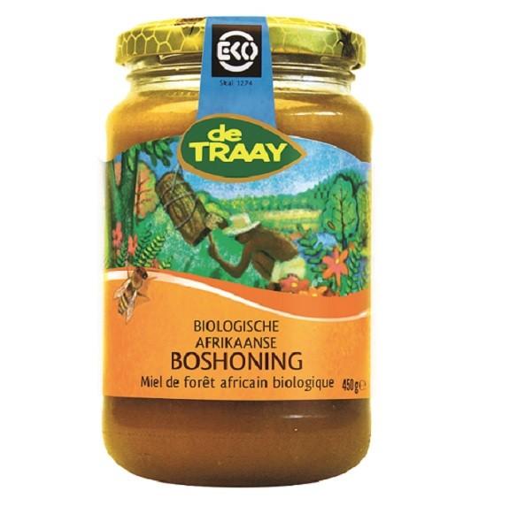 De Traay Afrikaanse bos creme honing eko 450 gr
