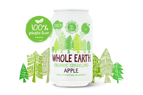 Appel Frisdrank BIO blik 330ml. Whole Earth