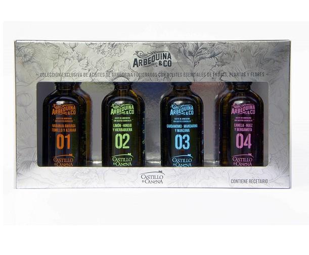 Castillo de Canena olijfolie geschenkpakket Arbequina & Co 4 x 100 ml