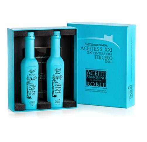 Giftbox 2 fles gerookte olijfolie