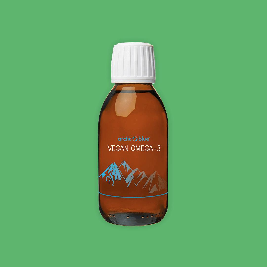 Vloeibare Vegan Omega-3 fles 150ml. Arctic Blue