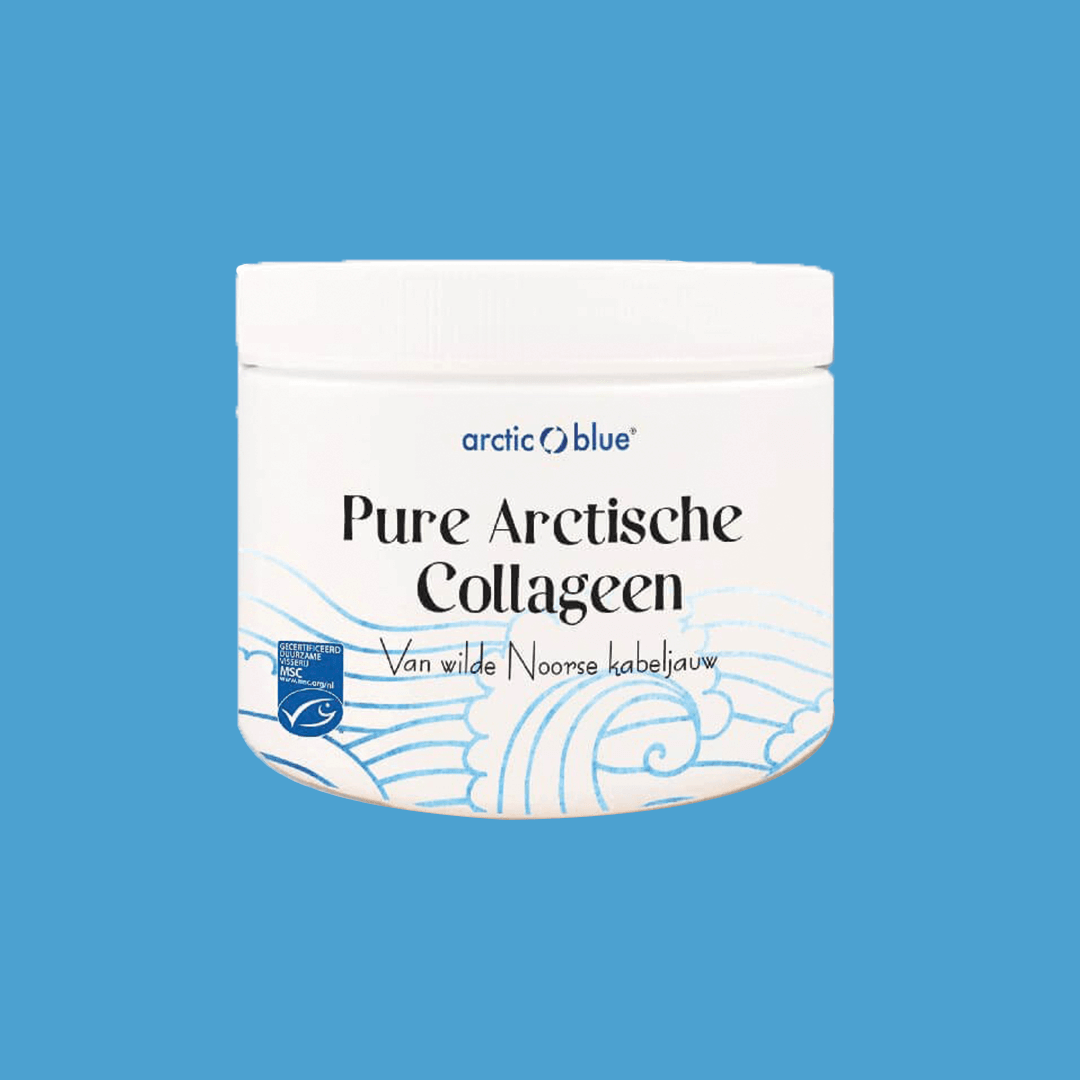 Pure Arctische MSC Viscollageenpoeder pot 150gr. Arctic Blue