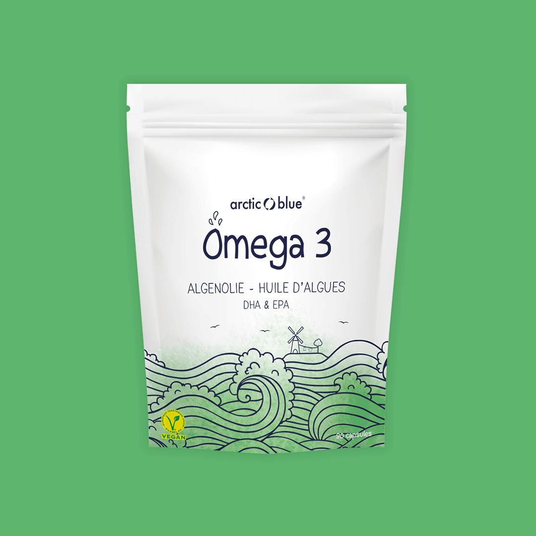 Vegetarische Omega-3 Algenolie DHA en EPA