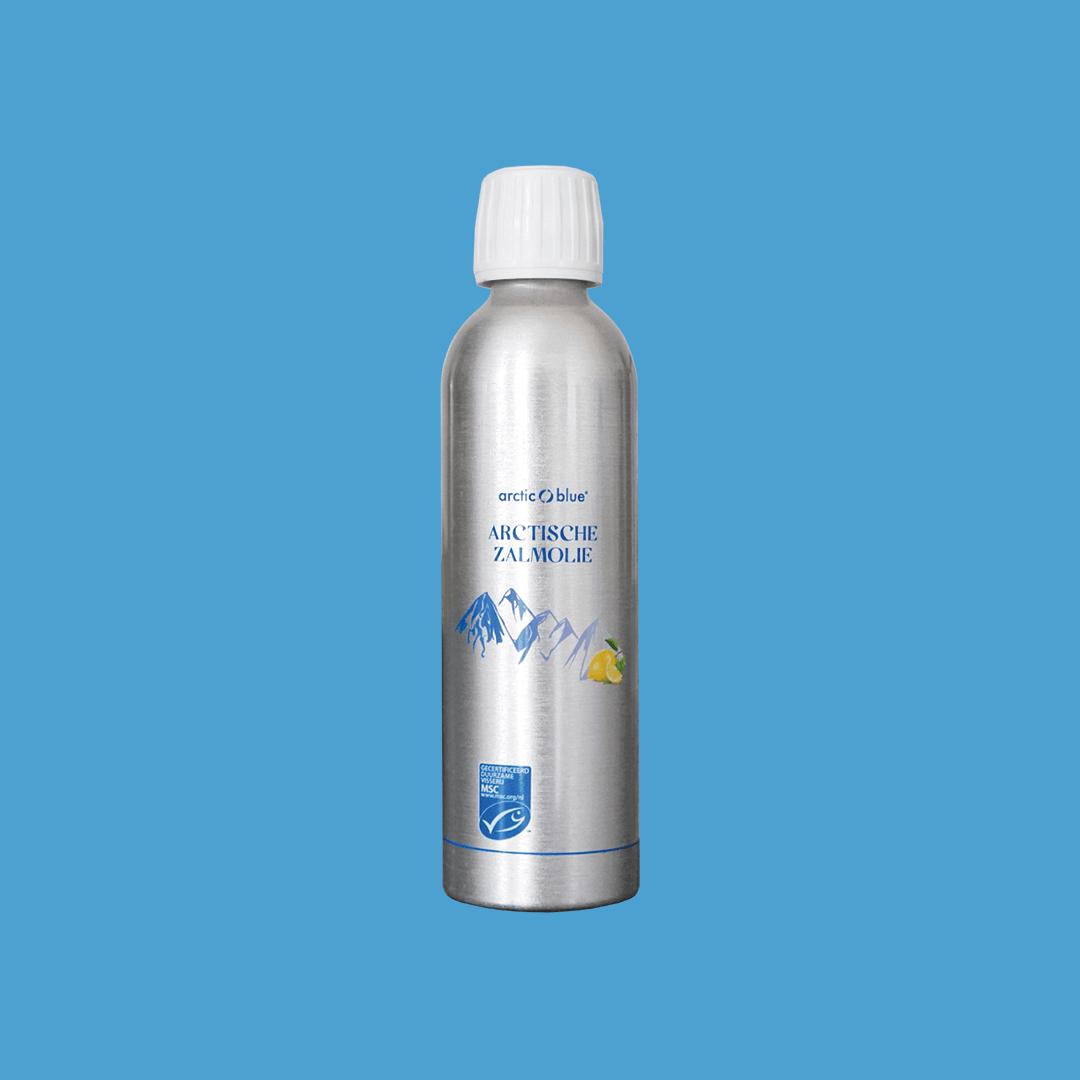 Wilde Arctische zalmolie fles 250ml. Arctic Blue
