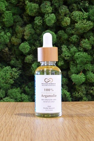 Arganolie met etherische oliën neroli en citroen 30ml. Reconnect & Balance