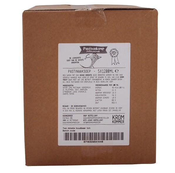 Kromkommer Pastinaaksoep 6 liter