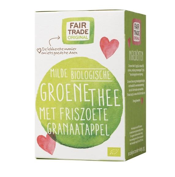 Groene thee granaatappel BIO 20x1,75gr. Fairtrade