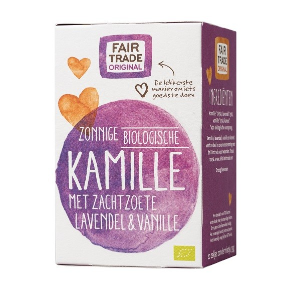 Fairtrade kamille thee lavendel BIO 20 x 1,75 gr
