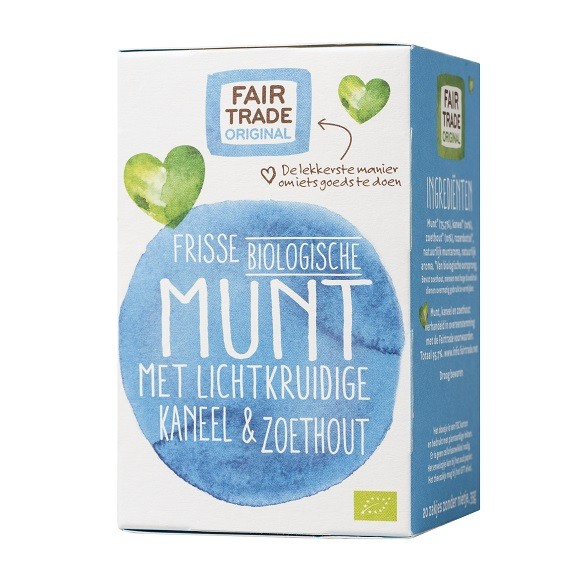 Thee Munt kaneel&zoethout BIO 35gr 20x1,75 gr. Fairtrade