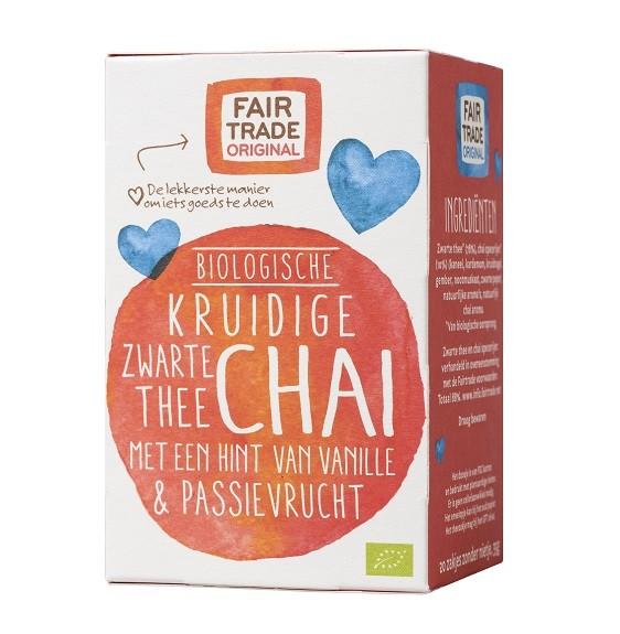 Thee chai vanille passievrucht BIO 35gr 20x1,75 gr. Fairtrade